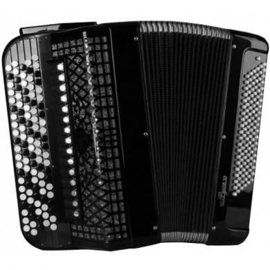 Brand New Rusich / Русич with Converter Bass System, Free Bass & Stradella, 120 Bass, 19 Registers, 5 Rows, Russian Button Accordion Bayan, BN-1