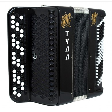 Brand New Tulskiy Bayan Tula 210 Russian Button Accordion made by Tulskaya Garmon Russia BN 39 incl. Straps, Case, Amazing sound!