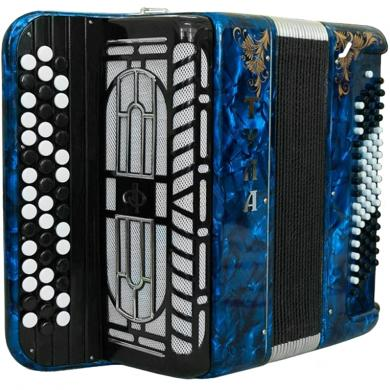 Brand NEW Russian Chromatic Button Accordion, Perfect Bayan for Beginner or Children / Kids, Tula, 3 Rows, 80 Bass, Light Weight, Stradella, BN-41