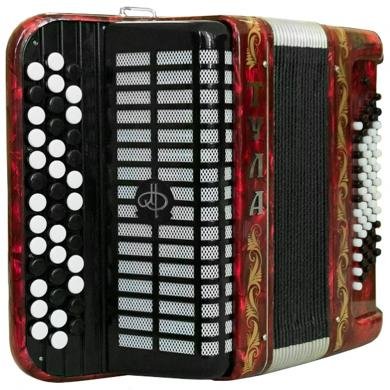 Brand NEW Russian Chromatic Button Accordion, Bayan for Children or Beginner, Tula, 3 Row, 60 Bass, Light Weight, Stradella, BN-42