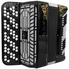 Brand New 5 Rows Bayan Tula 209 B-system Stradella, Russian Chromatic Button Accordion, High-class Musical Instrument, 5 Row 100 Bass, BN-49-3