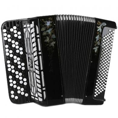 Brand New 5 Rows Bayan Tula 209 with Converter Bass System, Free Bass & Stradella, Russian Chromatic Button Accordion, High-Class Musical Instrument, 120 Bass, BN-50