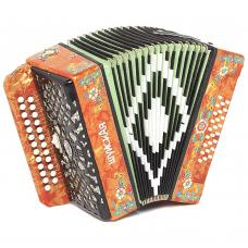 Brand New Harmonica Shuyskaya / Шуйская Russian Garmon, 25x25, 2 Registers, Button Accordion, С32X