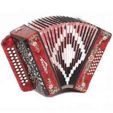 Brand New Harmonica Shuyskaya Russian Garmon Chayka-204 / Чайка-204, 25x25, Button Accordion, С6X