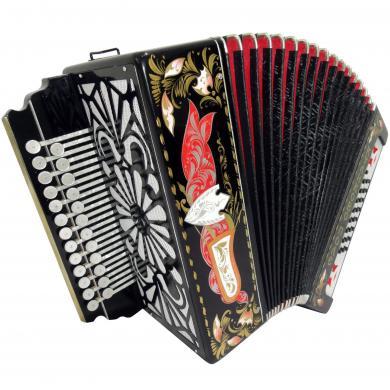 Brand New Russian Tulskaya Garmon Kulikov Field, Kulikovo Pole, Tula Harmonika, Button Accordion, High-Class Musical Instrument, 3-tonal, 2 Rows 25x25, G-3