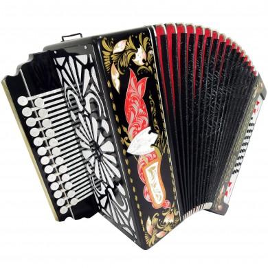 Brand New Russian Tulskaya Garmon Kulikov Field, Kulikovo Pole, Tula Harmonika, Button Accordion, High-Class Musical Instrument, 3-tonal, 2 Rows 25x25, G-3 Super sound!