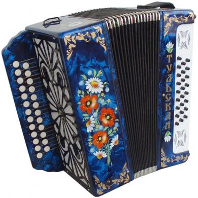 Brand New Harmonica Tula Russian Garmon Tul'skaya-301, Buton Accordion, G-6