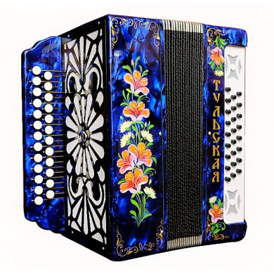 Brand New Russian Harmonica Tulskaya Garmon 301M Chromatic Button Accordion Very Beautiful and Powerful Sound!
