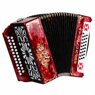 Brand New Tulskaya-301M Harmonica made in Tula Russia, Buton Accordion, G-21 Red