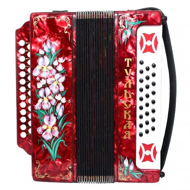Brand New High Quality Tulskaya Harmonica 301M Button Accordion Garmon Squeezebox made in Tula Russia Powerful and Amazing Sound! G-21 Red