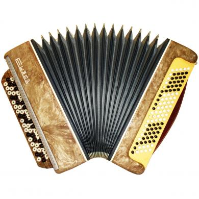 Russian Button Accordion Bayan Tembr / Тембр, 100 Bass, Case, 445