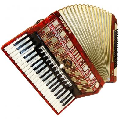 Horch M 701, 120 Bass, 15 Registers, Case, German Piano Accordion, 49