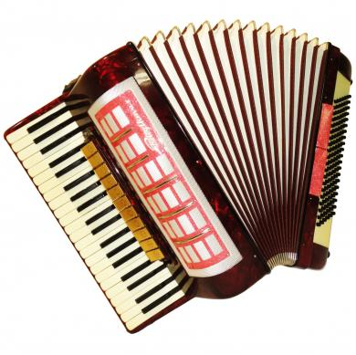Rhythmus, 120 Bass, 13 Registers, Case, German Piano Accordion, 617