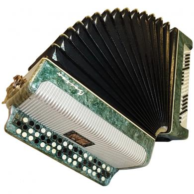 Vostok / Восток, 100 Bass, 2 Registers, Russian Button Accordion Bayan, 33