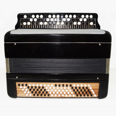 Tulskiy Bayan made in Tula Russia Original Folk Button Accordion New Straps 1483, Excellent sound and high quality sound.
