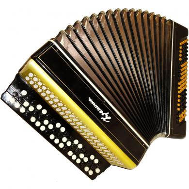 Kreminne / Кремінне, 100 Bass, Case, Ukrainian Button Accordion Bayan, 51
