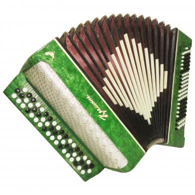 Very Beautiful Ukrainian Button Accordion Bayan Kreminne 100 Bass, B System 1057, Bright and Powerful sound.