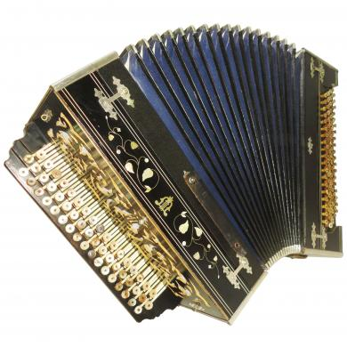 Antique Handmade Bayan, 118 Bass, Made in 1930s, Russian Button Accordion, 1061, Amazing Sound.