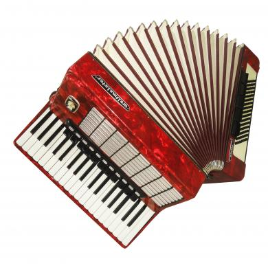 Perfect Weltmeister Stella 96 Bass, Original German Keyboard Used Accordion 1082, Bright and Quality sound.