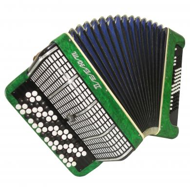 5 Row, Light Russian Button Accordion, Bayan Debut, 80 Bass, Almost Unused, 1085, Bright and Powerful Sound.