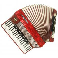 Weltmeister Stella, 120 Bass, 16 Reg, German Piano Accordion, New Straps, 1048, Excellent Sound. Full Size Accordian.