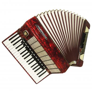 Perfect Weltmeister Stella 96 Bass 14 Sw, German Accordion, New Straps Case 1021, Bright and Quality sound.