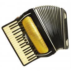 Piano Accordion Volna, made in Russia, 80 Bass, Folk Keyboard Accordian, 1120, Very Beautiful sound.