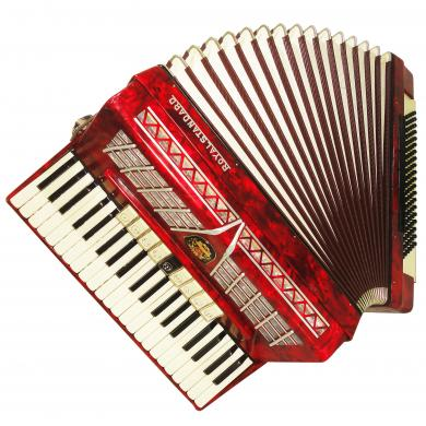 Royal Standard 120 Bass Amazing Piano Accordion made in Germany, New Straps 1126, Very Rich and Quality Sound.