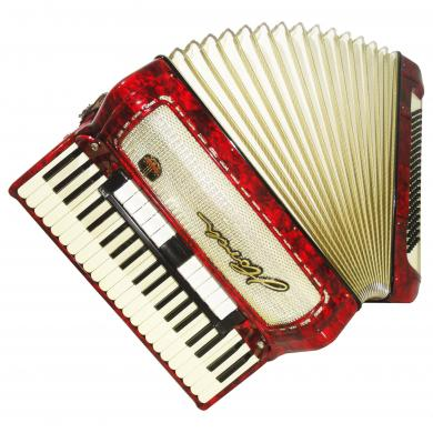 Horch, Rare Piano Accordion, 120 Bass, made in Germany, Great Sound, Case, 1127, High Quality Accordian.