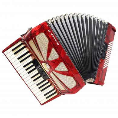 Lignatone, 60 Bass, Light Weight Accordion, Beginner Children, New Straps, 1234, Accord II, made in Czechoslovakia, Amazing sound.