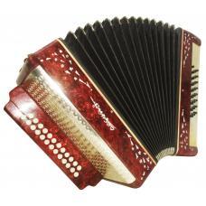 Russian Garmon Vesna 2, Button Accordion Harmonica, 25x25, 2 registers Case 1145, Squeezebox, Very Nice and Bright sound!