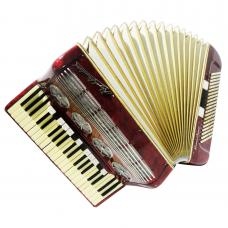 Royal Standard Grand Concert, 140 Bass, Luxury German Piano Accordion, Case 1104, Magnificent sound, High Quality Rare Accordian, New Straps