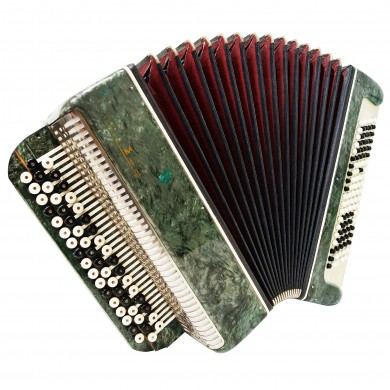 Folk Bayan Tembr, made in Russia, Tula Chromatic Button Accordion, 100 Bass 1379, B System, Magnificent sound.