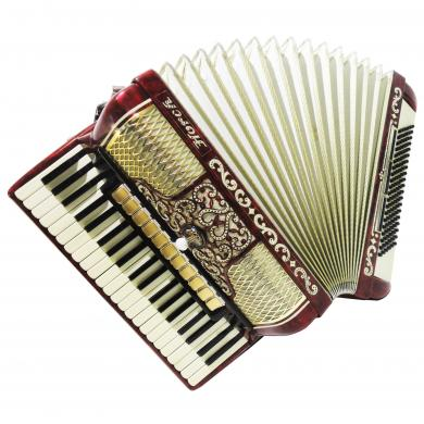 Horch Deluxe, Rare Concert German Piano Accordion, 120 Bass, New Straps, 1168, Full size instrument, Gorgeous, Amazing sound.