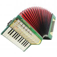Russian Piano Accordion Yunost, 60 Bass, Light Weigh for Beginner Children, 1175, Rare Folk Keyboard Accordian, Very Beautiful sound.