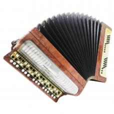 Bayan Etude, Chromatic Button Accordion, made in Russia, Tula, 100 Bass, 1180, Button Box Accordian, Rich and Powerful sound!