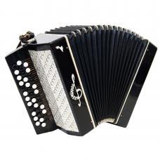 Orchestral Monophon, Prima, Rare Russian Button Accordion, Bayan, Harmonica 1183, Bright and Quality sound.