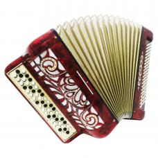Horch, Luxurious 3 Row German Chromatic Button Accordion, Bayan, New Straps 1188, Button Box Accordian, Rich and Powerful sound.