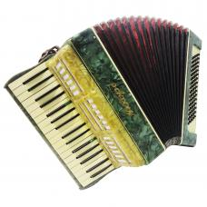 Very Nice Cheap Russian Piano Keyboard Accordion Akkord 80 Bass 4 Registers 1192, Excellent Used Accordian For Sale, Amazing sound!