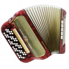 5 Row Barcarole Professional, 120 Bass Great German Button Accordion Bayan, 1109, 16 Registers, Bright and Quality sound, Original Straps.