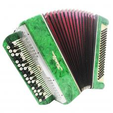 Tembr, Tula, Cheap Bayan, Folk Russian Chromatic Button Accordion, 100 Bass 1195, B System, Magnificent sound.