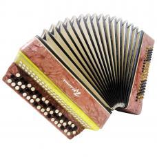 Kreminne Very Beautiful Ukrainian Button Accordion Bayan 100 Bass, B System 1231, Bright and Powerful sound.