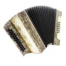 Folk Garmon Marichka, Button Accordion Harmonica, 23x12, made in Ukraine, 1263, Squeezebox, Very Beautiful sound!