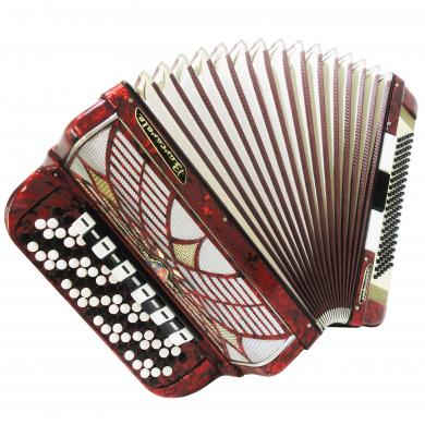 5 Row Barcarole Professional, German Button Accordion, Bayan, New Straps, 1221, Bright and Powerful sound!