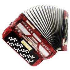 Firotti Eroica, 5 Row 120 Bass Rare Original German Button Accordion Bayan, 1111, Concert Chromatic Accordian, Super sound.