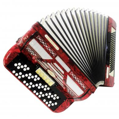 Firotti Eroica, 5 Row 120 Bass Rare Original German Button Accordion Bayan, 1111, Concert Chromatic Accordian, Super sound.