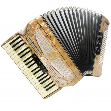 Very Nice Accordion Lignatone Melodia II, 80 Bass, incl Case and New Straps 1328, made in Czechoslovakia, Very Beautiful sound.