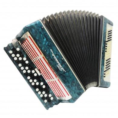 Folk Ukrainian Bayan Polissya, 100 Bass, Chromatic Button Accordion, Case, 1406, B System, Very Nice Sound!