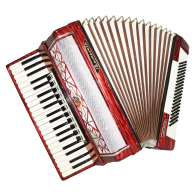 Barcarole Prominenz, Piano Accordion, 120 Bass made in Germany, New Straps, 1464, Amazing sound, High Quality Accordian.