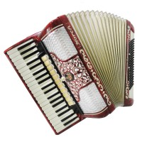 Horch Deluxe 120 Bass, Perfect German Full Size Piano Accordion, New Straps 1350, Powerful Sound!
